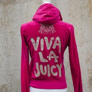 Juicy Couture Hot Pink Velour Jacket